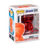 HULK SPECIAL EDITION CHROME ROUGE FUNKO POP ! 499 MARVEL AVENGERS