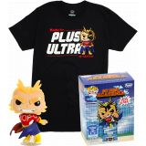 ALL MIGHT FUNKO POP ! EXCLU GLOWS IN THE DARK PACK T-SHIRT TAILLE S